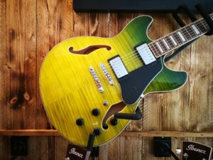 Ibanez AS73FM-GVG Artcore Semi-Hollow 6 String Green Valley Gradation