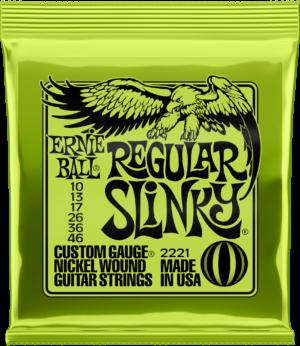 Ernie Ball 2221 Slinky Nickel, Regular 10-46