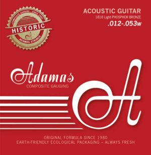 Adamas Akustik-Gitarren Saiten Historic Reissue Phosphor Bronze, 12-53