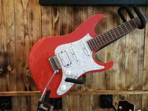 Ibanez AZ2204-SCR Scarlet Prestige E-Guitar + Hardcase