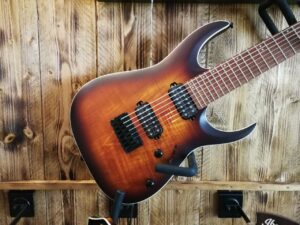 Ibanez RGA742FM-DEF RGA-Series E-Guitar 7 String Dragon Eye Burst Flat