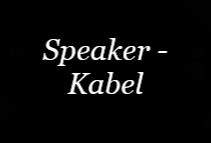 Speaker-Kabel
