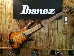 Ibanez SR5PBLTD-DEL Premium E-Bass 5 String Limited Edition Dragon Eye Burst Low Gloss + Bag