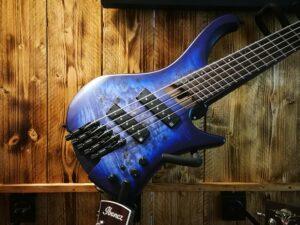 Ibanez EHB1505MS-PLF EHB Series E-Bass 5 String Multiscale Pacific Blue Burst + Gigbag